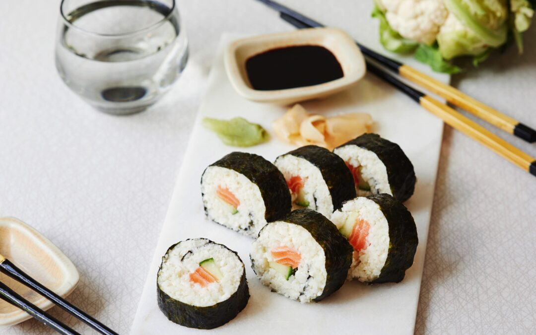 Low carb sushi rolls